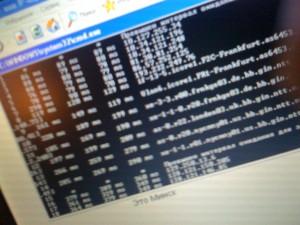 Трасссировка twitter.com c тестового компьютера