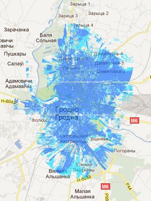Yota покрытие в городе Гродно